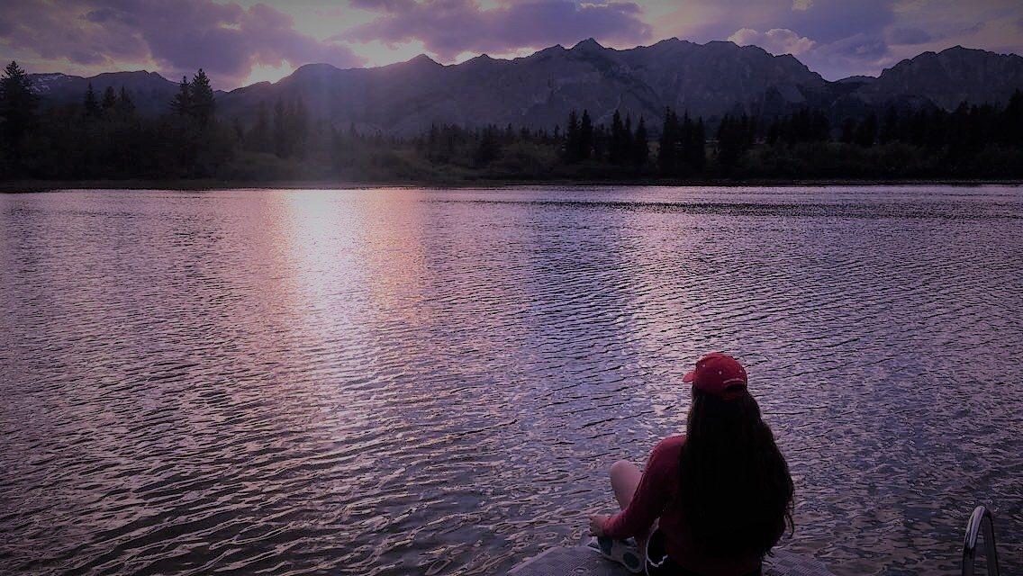 sunset in alberta