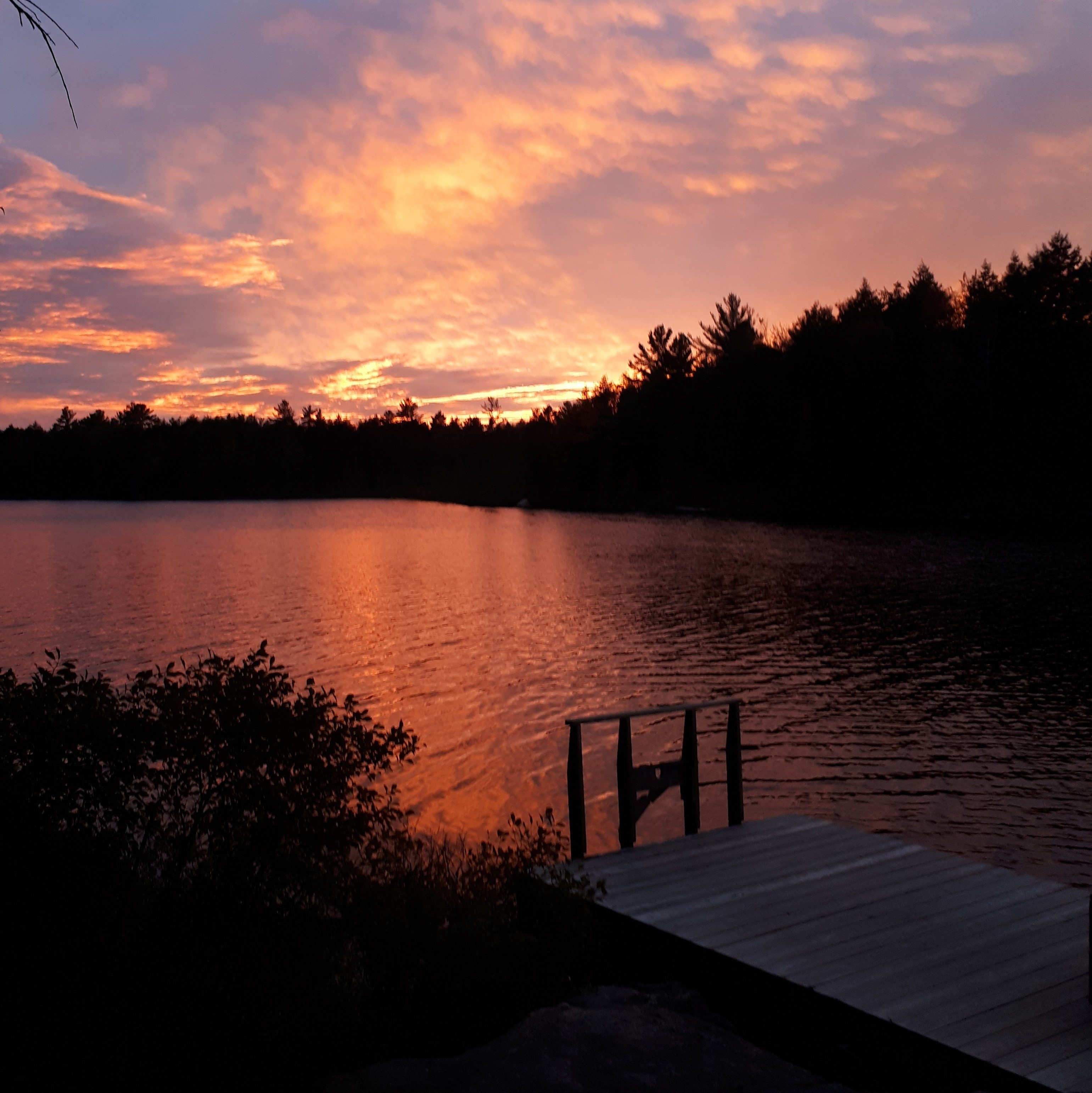 sunset muskoka lake